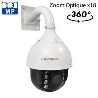 Caméra PTZ Dome motorisé AHD Infra rouge IR150M - Zoom Optique X18 - IP66 - 960P 1,3 MegaPixels