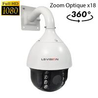 Caméra PTZ Dome motorisé AHD Infra rouge IR150M - Zoom Optique X18 - IP66 - 2.0 MegaPixels Full HD