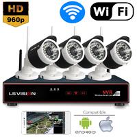 Kit NVR de vidéo surveillance sans FIL avec 4 Caméras Wifi 960P