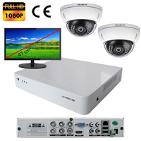 Kit vidéo surveillance : enregistreur AHD 4 voies + 2 caméras AHD 2 mégapixels Full HD