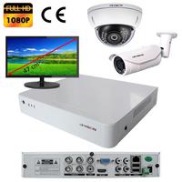Kit vidéo surveillance : enregistreur AHD 4 voies + 2 caméras AHD (1 x extérieur et 1 x dôme) 2.0 mégapixels Full HD