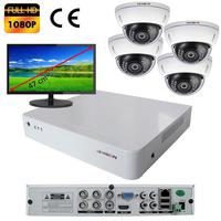 Kit vidéo surveillance : enregistreur AHD 4 voies + 4 caméras AHD 2 mégapixels Full HD