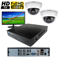 Kit vidéo surveillance HD-TVI : enregistreur 4 voies + 2 caméras HD-TVI de 2.0 mégapixels Full HD