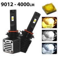 2 x Ampoules HIR2 9012 - LED Puissance 40W - 4000 Lumens