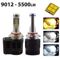 2 x Ampoules HIR2 9012 - LED Puissance 55W - 5500 Lumens