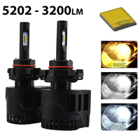 2 x Ampoules 5202 - LEDs Puissance 30W - 3200 Lumens