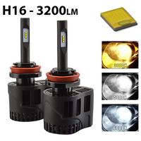 2 x Ampoules H16 - LEDs Puissance 30W - 3200 Lumens