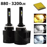 2 x Ampoules 880 - LEDs Puissance 30W - 3200 Lumens