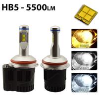 2 x Ampoules HB5 9007 - LED Puissance 55W - 5500 Lumens