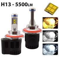 2 x Ampoules H13 - LED Puissance 55W - 5500 Lumens