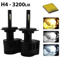 2 x Ampoules H4 - LEDs Puissance 30W - 2000 et 3200 Lumens