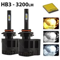 2 x Ampoules HB3 9005 - LEDs Puissance 30W - 3200 Lumens
