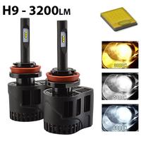 2 x Ampoules H9 - LEDs Puissance 30W - 3200 Lumens