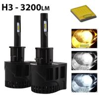 2 x Ampoules H3 - LEDs Puissance 30W - 3200 Lumens