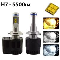 2 x Ampoules H7 - LED Puissance 55W - 5500 Lumens