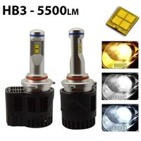 2 x Ampoules HB3 9005 - LED Puissance 55W - 5500 Lumens