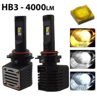 2 x Ampoules HB3 9005 - LED Puissance 40W - 4000 Lumens