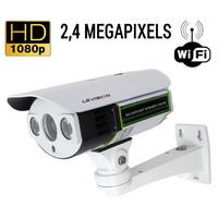 Caméra de vidéosurveillance sans fil WIFI : 2.4 MegaPixels, Zoom Optique X4, vision nocturne jusqu'à 20m