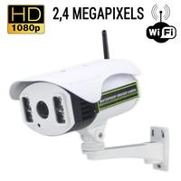 Caméra de vidéo surveillance sans fil WIFI : 2.4 MegaPixels, Zoom Optique X4, vision nocturne jusqu'à 70m