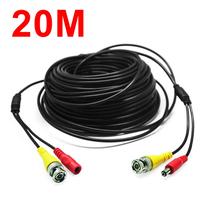 Câble vidéo + alimentation BNC-DC pour Caméra Analogique : 20 mètres