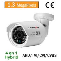Caméra tube AHD/TVI/CVI/CVBS vision nocturne 20M - lentille fixe 3.6mm - IP66 - 960P 1,3 MegaPixels