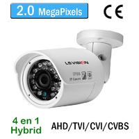 Caméra tube AHD/TVI/CVI/CVBS vision nocturne 20M - lentille fixe 3.6mm - IP66 - 1080P 2.0 MegaPixels