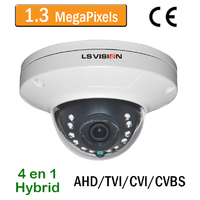 Caméra Dome AHD/TVI/CVI/CVBS vision nocturne 15M - lentille fixe 3.6mm - IP66 - 960P 1,3 MegaPixels