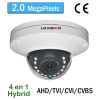 Caméra Dome AHD/TVI/CVI/CVBS vision nocturne 15M - lentille fixe 3.6mm - IP66 - 2.0 MegaPixels Full HD