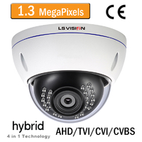 Caméra Dome AHD/TVI/CVI/CVBS Infrarouge 24 leds - Vari-focal 2.8-12mm - IP66 - 960P 1,3 MegaPixels