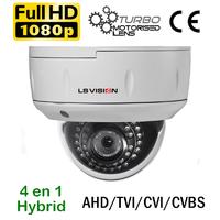 Caméra motorisée de vidéosurveillance Dome AHD/TVI/CVI/CVBS - 2.0 MegaPixels Full HD