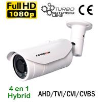 Caméra tube motorisée Hybrid 4en1 AHD/TVI/CVI/CVBS - 2.0 MegaPixels Full HD