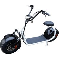 Citycoco : Scooter électrique type Harley avec châssis blanc - 1000W 45km/h - 14 coloris au choix