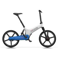 GoCycle GS Blanc-Bleu - Vélo à assistance électrique Batterie 300Wh