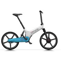 GoCycle GS Blanc-Bleu clair - Vélo à assistance électrique Haut de Gamme