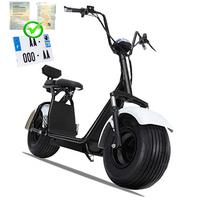 Citycoco : Scooter électrique Blanc type Harley avec carte grise - 1000W 45km/h