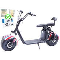 Scooter 100% électrique au couleur United Kingdom : Citycoco homologué pour la route en France