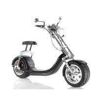Scooter électrique type Chopper Noir : Homologué pour la France, livré avec certificat d'immatriculation