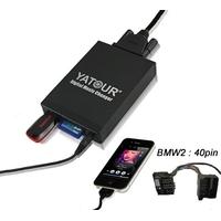 Interface Usb Mp3 iPod Auxiliaire (Bluetooth) BMW Connecteur 40pin - Série 3 E46, Série 5 E39, X3 E83, X5 E53, BMW Z4 & Z8, Compact