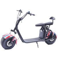 Scooter 100% électrique au couleur UK : Azur Scooter à batterie amovible homologué pour la route en France