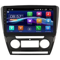 Autoradio Android Auto GPS Wifi Mains libres Skoda Octavia de 2010 à 2014 - climatisation automatique