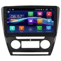 Autoradio Android Auto écran tactile GPS Skoda Octavia de 2010 à 2014 - climatisation manuelle