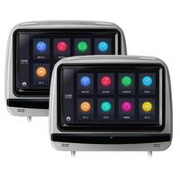 Paire d'appui tête avec écran tactile 9 pouces résolution 1080P, Lecteur CD/DVD et USB/SD
