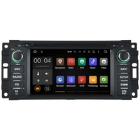 Autoradio Android 7.1 GPS Waze Wifi écran tactile Jeep Commander Liberty Wrangler Grand Caravan