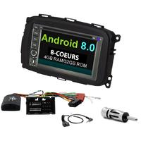 Autoradio Android 8.0 GPS écran tactile Bluetooth Wifi Alfa Romeo Giulietta depuis 2013