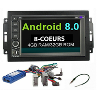 Autoradio Android 8.0 Wifi GPS Waze Jeep Grand Cherokee, Compass, Commander, Wrangler, Patriot (Remplace autoradio NAV d'origine)