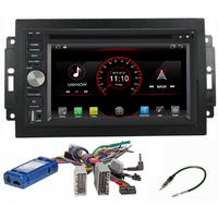 Autoradio Android 8.1 Wifi GPS Waze Jeep Grand Cherokee, Compass, Commander, Wrangler, Patriot (Remplace autoradio NAV d'origine)