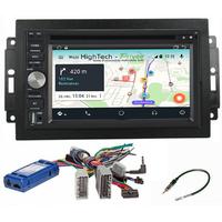 Autoradio Android 9.1 Wifi GPS Waze Jeep Grand Cherokee, Compass, Commander, Wrangler, Patriot (Remplace autoradio NAV d'origine)