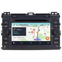 Autoradio Android 9.0 GPS écran tactile Wifi Toyota Land Cruiser J120 de 2002 à 2009