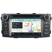 Poste Android 9.0 GPS Waze Wifi écran tactile Toyota Hilux de 2012 à 2015
