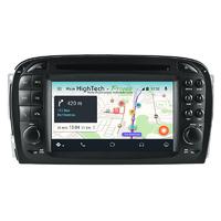 Autoradio Ecran tactile avec Navigation GPS Wifi Android 9.0 Mercedes SL de 2001 à 2004